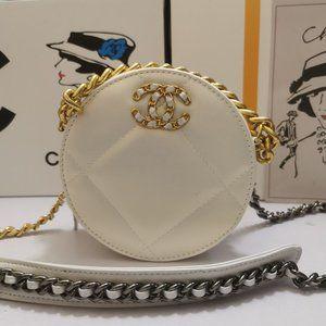 Chanel round shoulder bag